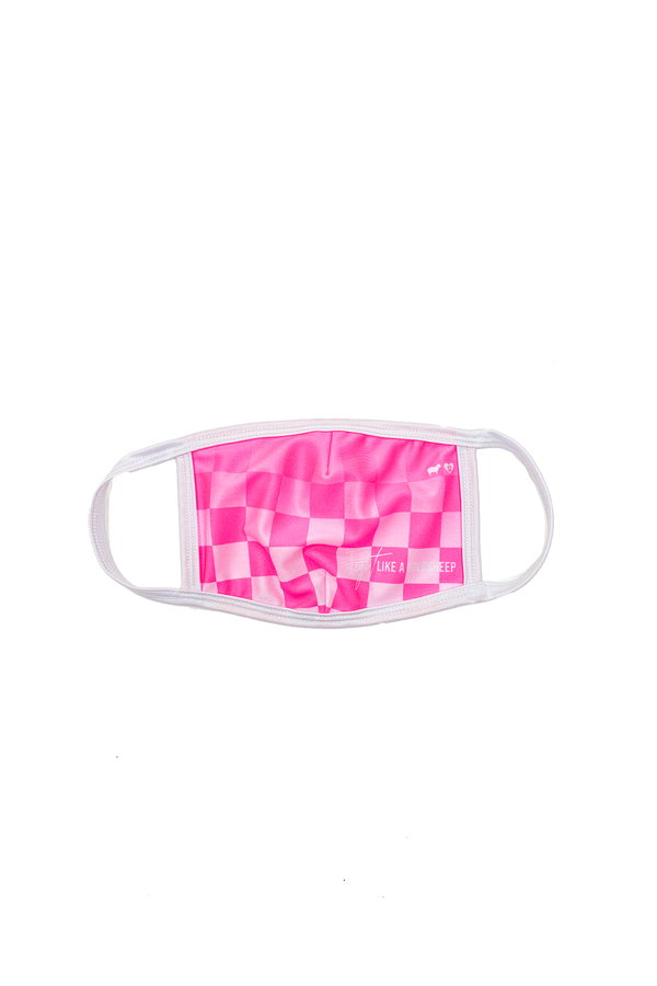 Ombre Pink Checker GS x KAB Face Mask