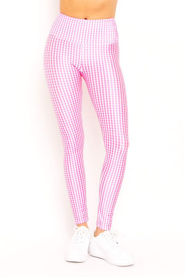 Pink Gingham Legging
