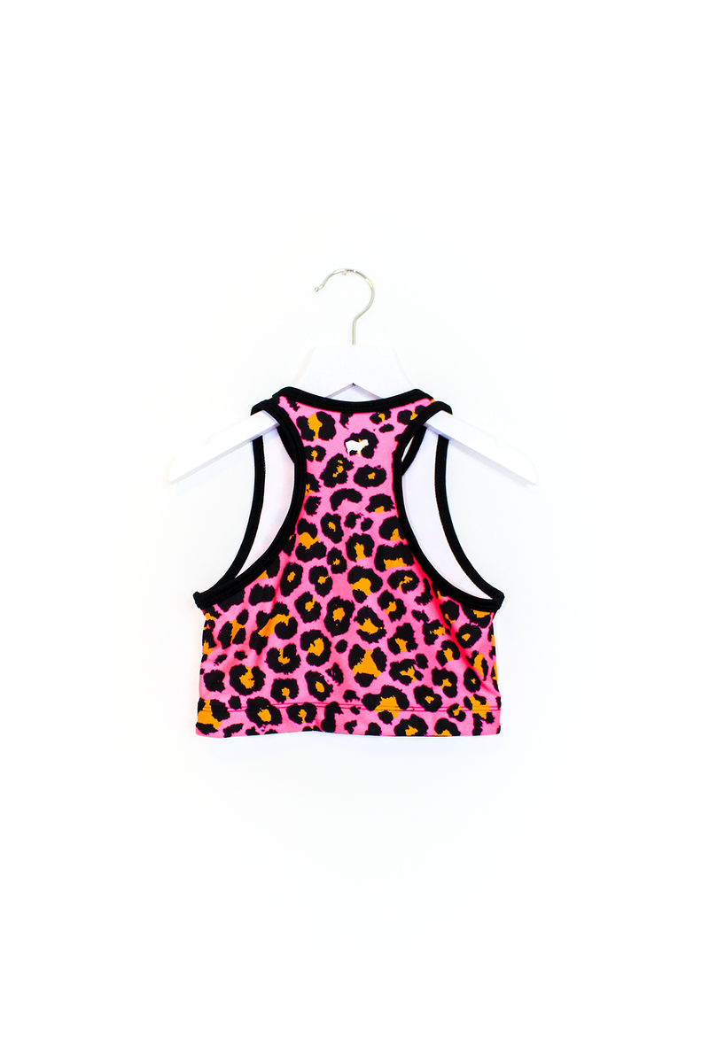 Pink Cheetah Crop Top Kids