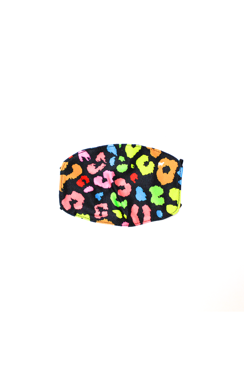 Rainbow Cheetah Kids Mask