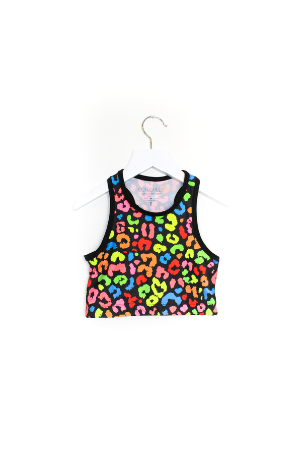 Rainbow Cheetah Crop Top Kids