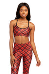 Red Snowflake Plaid Bralette