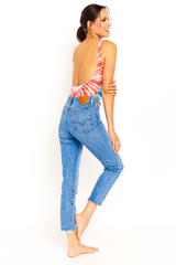 Red White & Blue Tie Dye One Piece