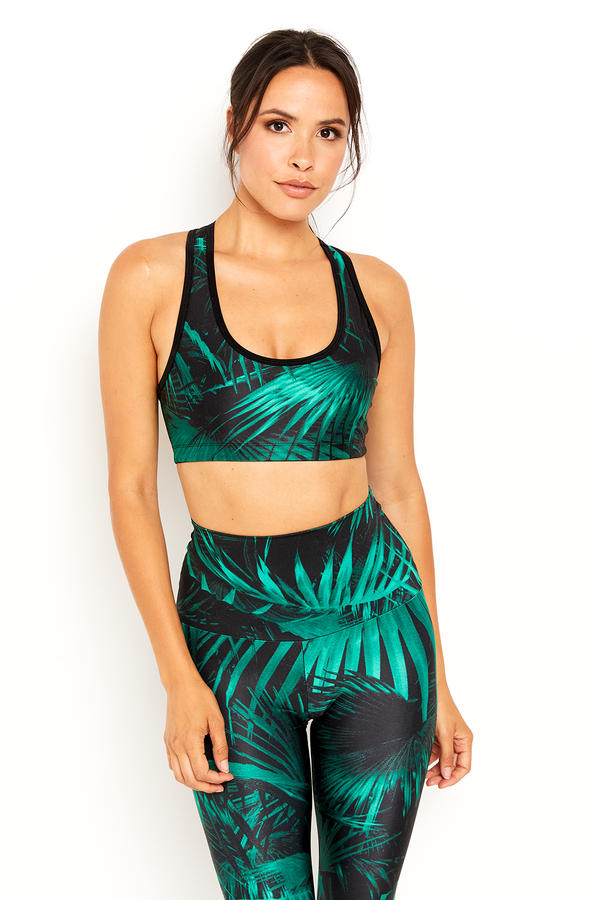 sbe Green Palm Sports Bra