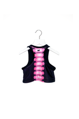 Pink Skeleton Crop Top Kids
