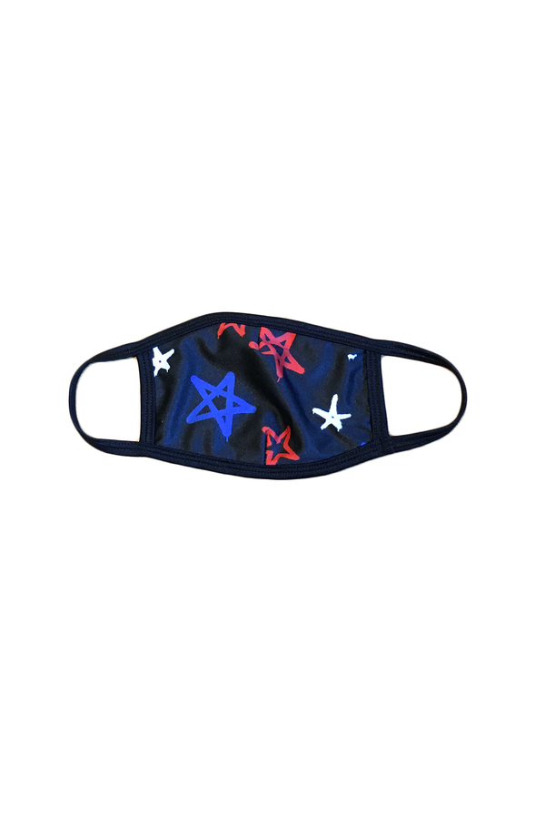 Graffiti Stars Face Mask