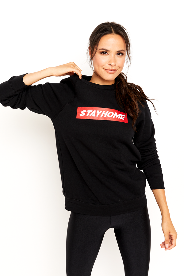 Stay Home Crew Neck Sweatshirt