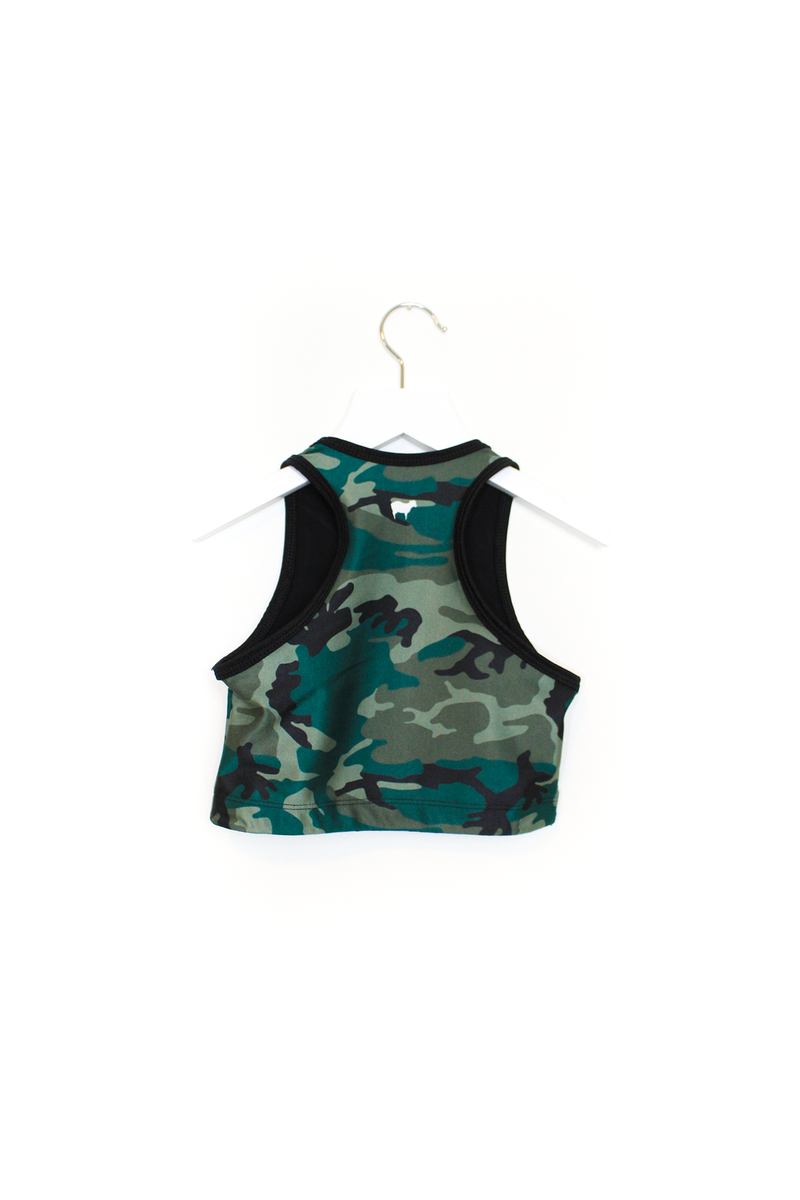 Street Camo Crop Top Kids