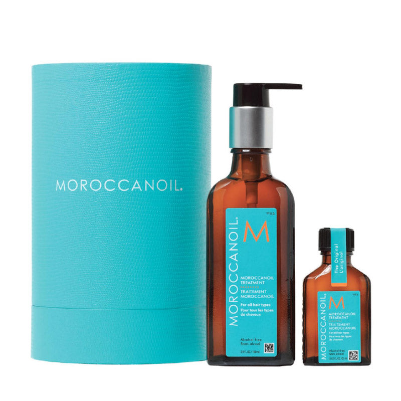 Moroccanoil Treatment Home and Away Duo- with Cylinder