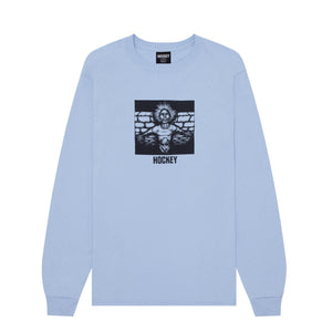 Teeshirt Manches Longues HOCKEY Crippling L/S Light Blue - Bleu Clair - SUBIACO SKATESHOP