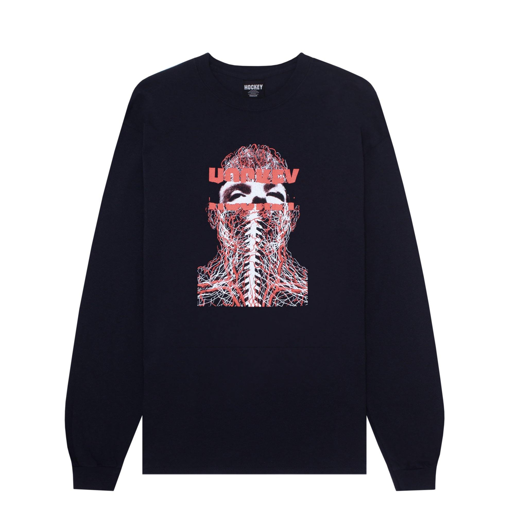 Teeshirt Manches Longues HOCKEY Nerves L/S Black - Noir - SUBIACO SKATESHOP