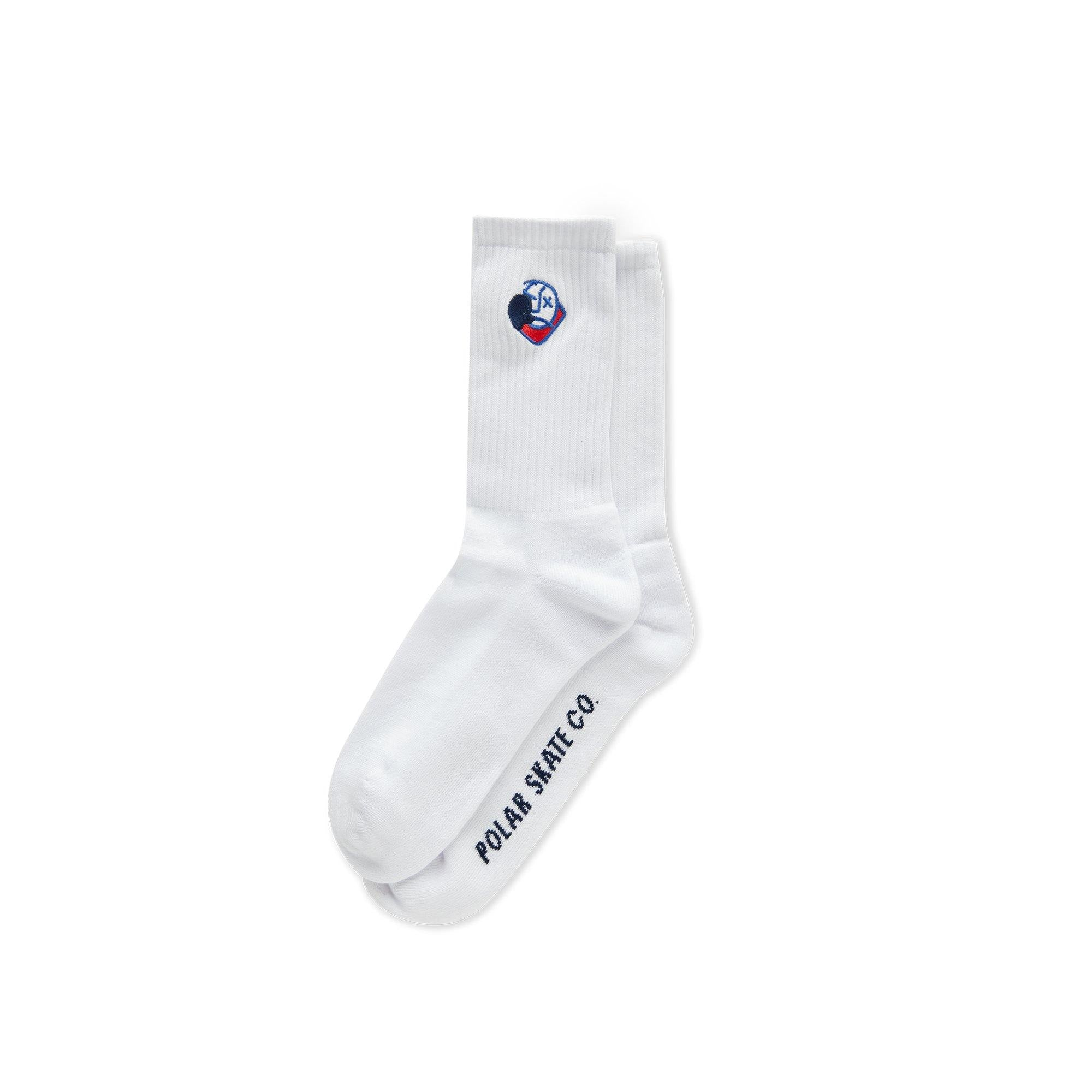 Chaussettes POLAR Big Boy Socks White - Blanches - SUBIACO SKATESHOP