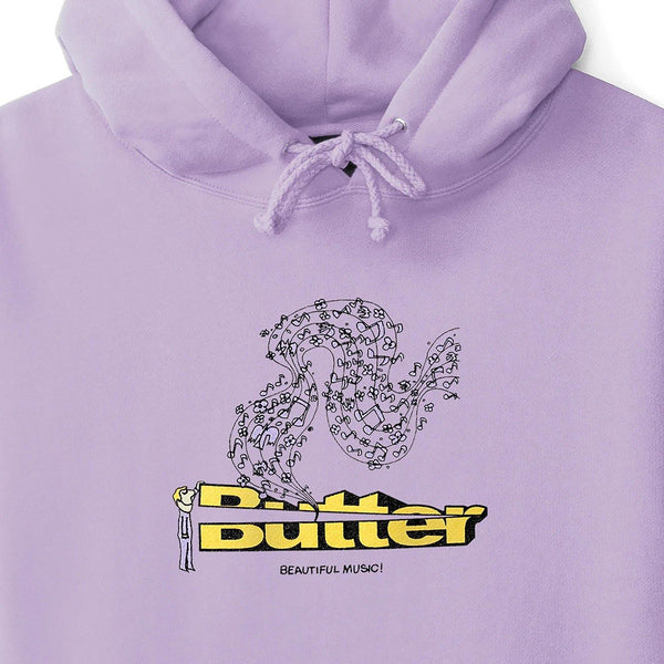 Sweatshirt Capuche BUTTER GOODS Beautiful Music Pullover Lavende