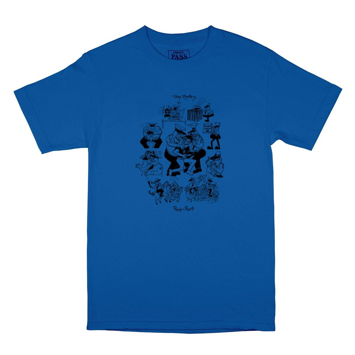 Teeshirt PASS~PORT Tobby Zoates Coppers Royal - Bleu Roi