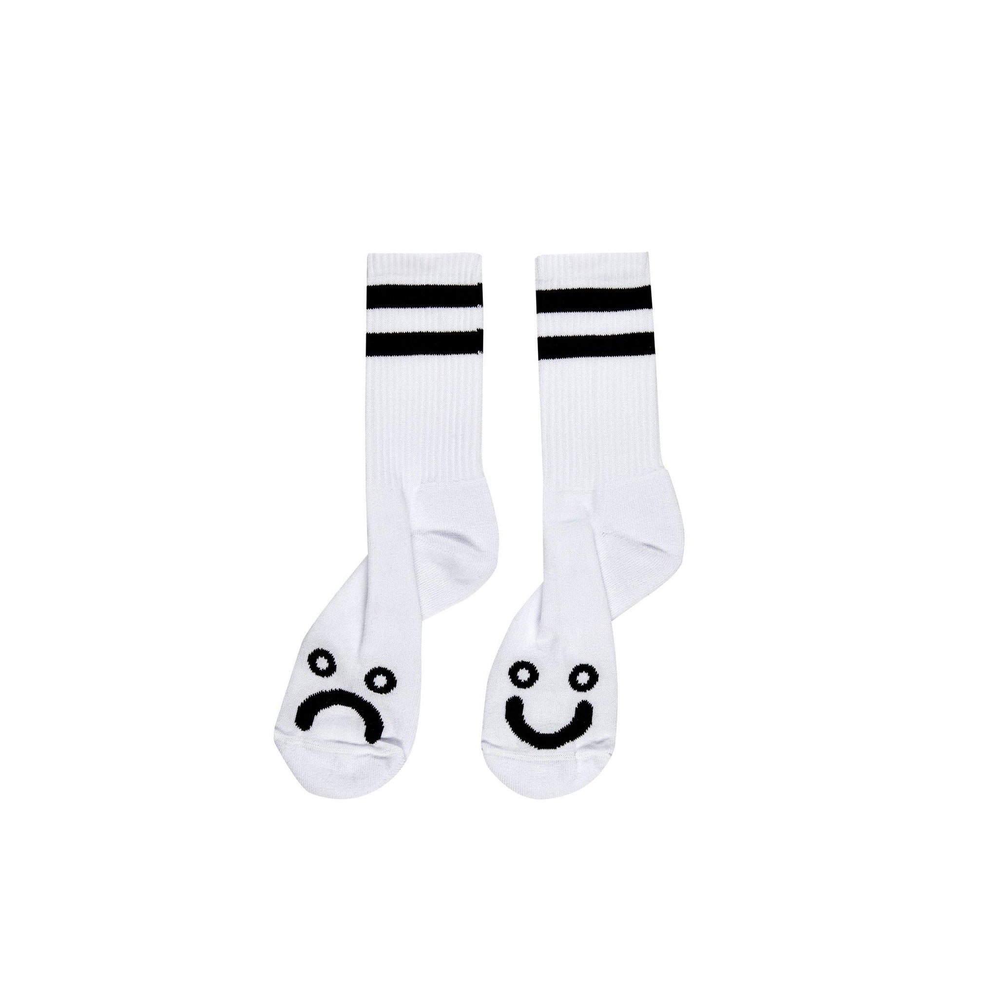 Chaussettes POLAR Happy Sad Socks White - Blanches