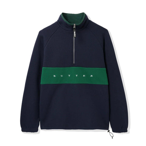 Pull Ras de Cou BUTTER GOODS Hampshire 1/4 Zip Pullover Marine - SUBIACO SKATESHOP