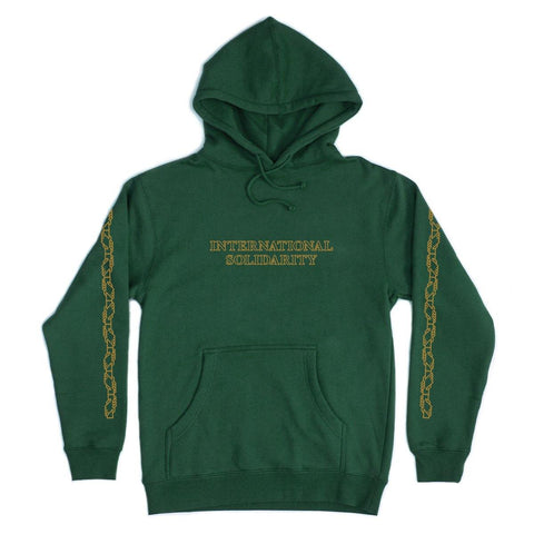 Sweatshirt Capuche PASS~PORT International Solidarity - Green - Vert