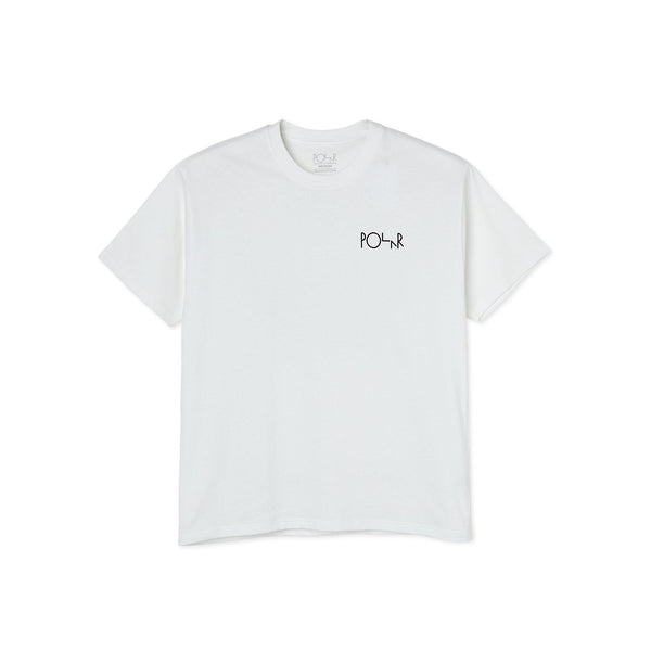 Tee Shirt POLAR Moth House Fill Logo White - Blanc