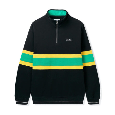 Pull Ras de Cou BUTTER GOODS Marshall 1/4 Zip Pullover Black - SUBIACO SKATESHOP