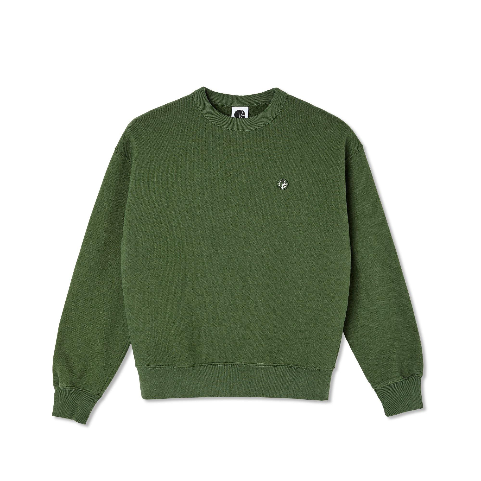 Sweatshirt Ras de cou POLAR Patch Crewneck Hunter Green - Vert foncé