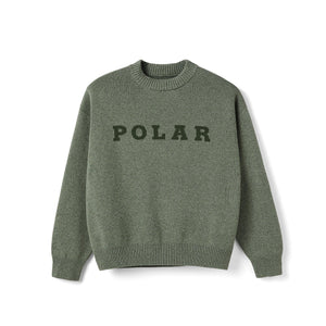 Sweatshirt Ras de Cou POLAR Knit Sweater - Green - Vert