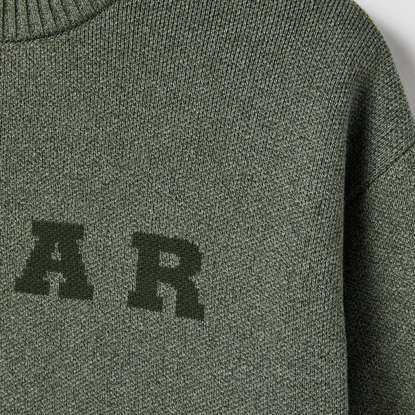 Sweatshirt Ras de Cou POLAR Knit Sweater - Green - Vert - SUBIACO SKATESHOP