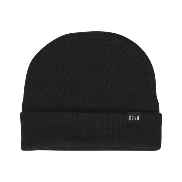 Bonnet SOUR SOLUTION Sweeper Beanie Black - Noir - SUBIACO SKATESHOP