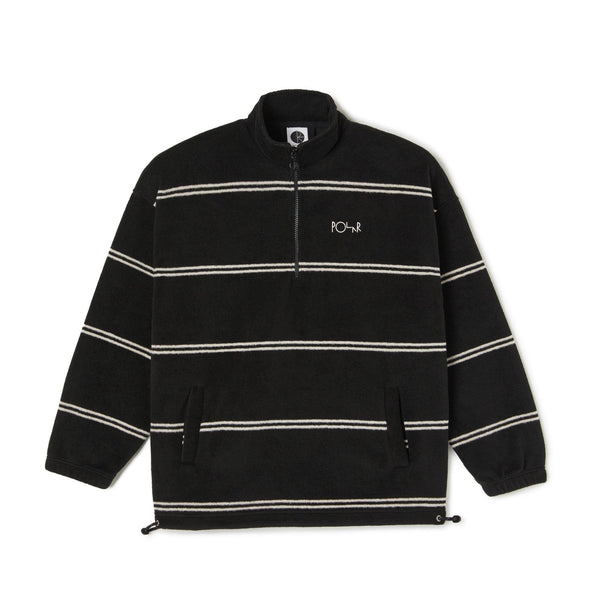 Sweatshirt Ras de Cou POLAR Stripe Fleece Pullover 2.0 - 1/4 Zip - Black - Noir