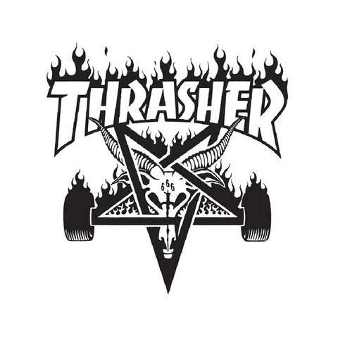 Teeshirt THRASHER Crows Black - Noir