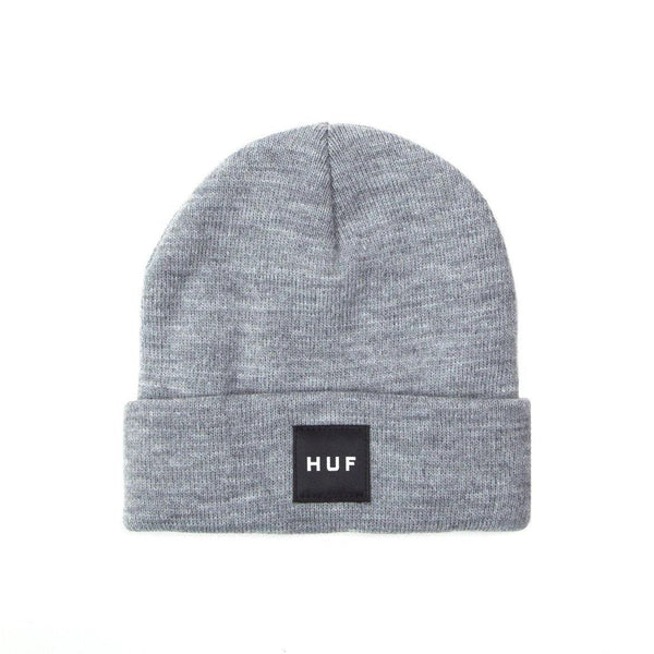 Bonnet HUF Essentials Box Logo Gris Chiné