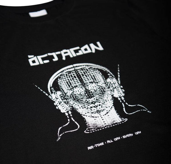 Teeshirt ÖCTAGON Tune In Noir.