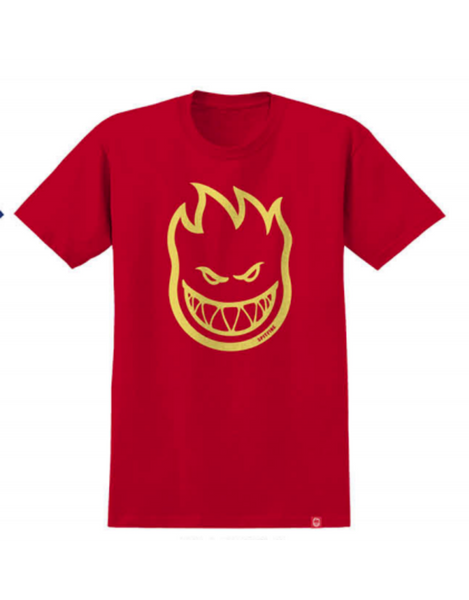 Teeshirt Manches Courtes Junior SPITFIRE Bighead Red - Rouge