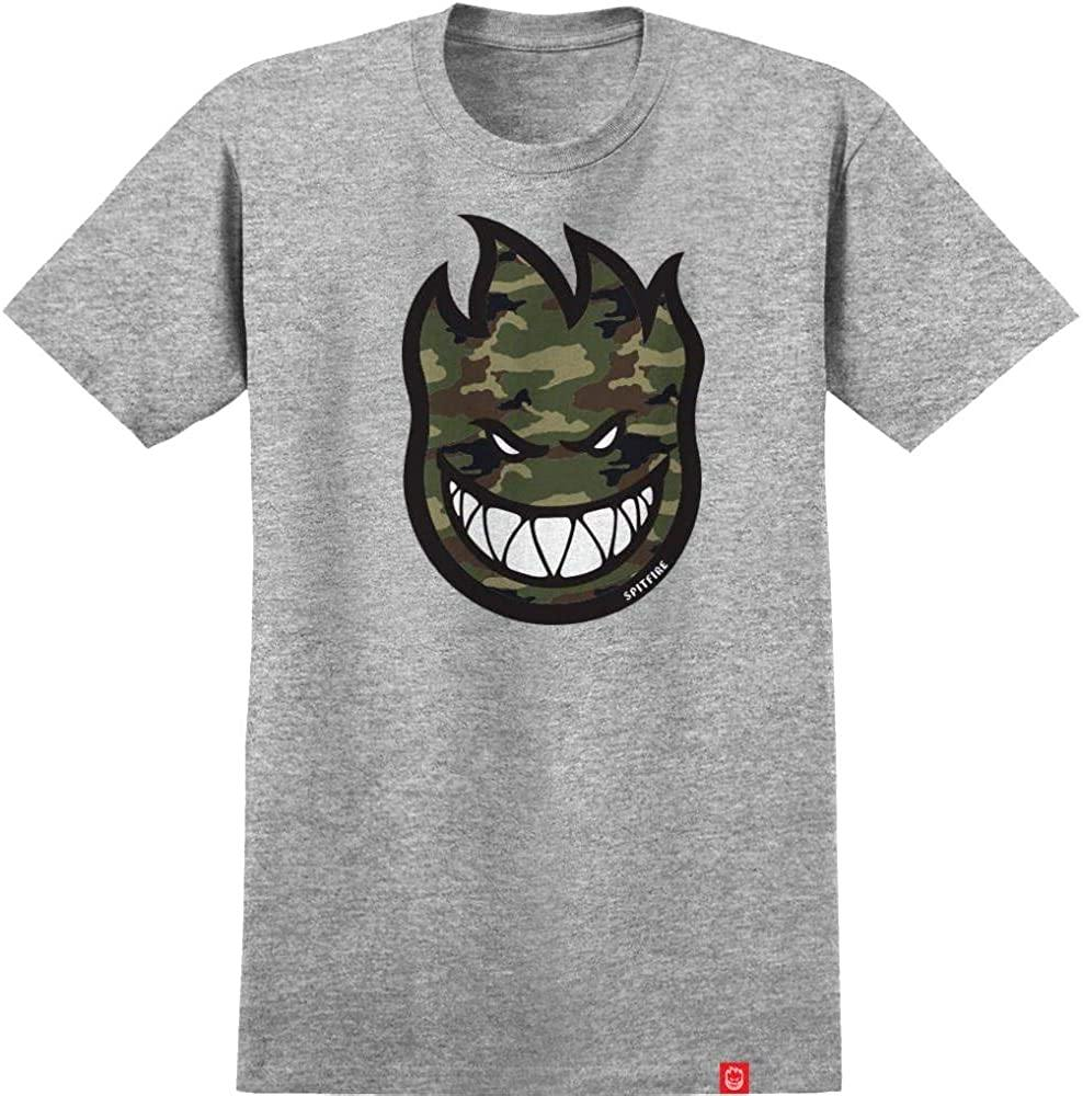 Teeshirt SPITFIRE Bighead Fill Grey/Camo - Gris chiné/Camouflage