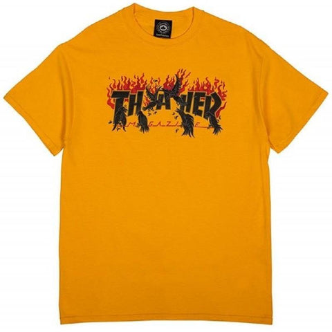 Teeshirt Manches Courtes THRASHER Crows Gold - Or