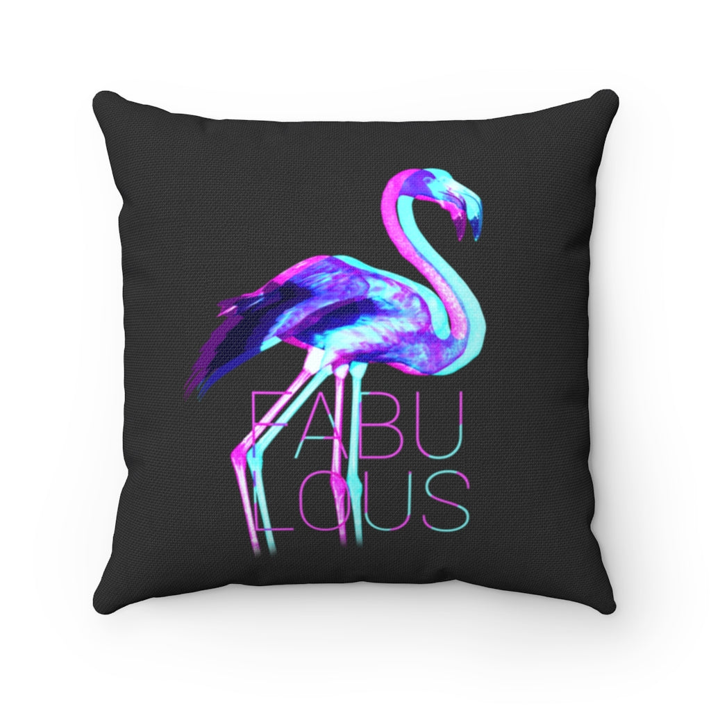 Fabulous Flamingo Square Pillow