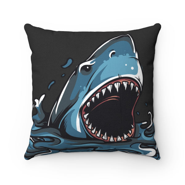 Hungry Shark Square Pillow