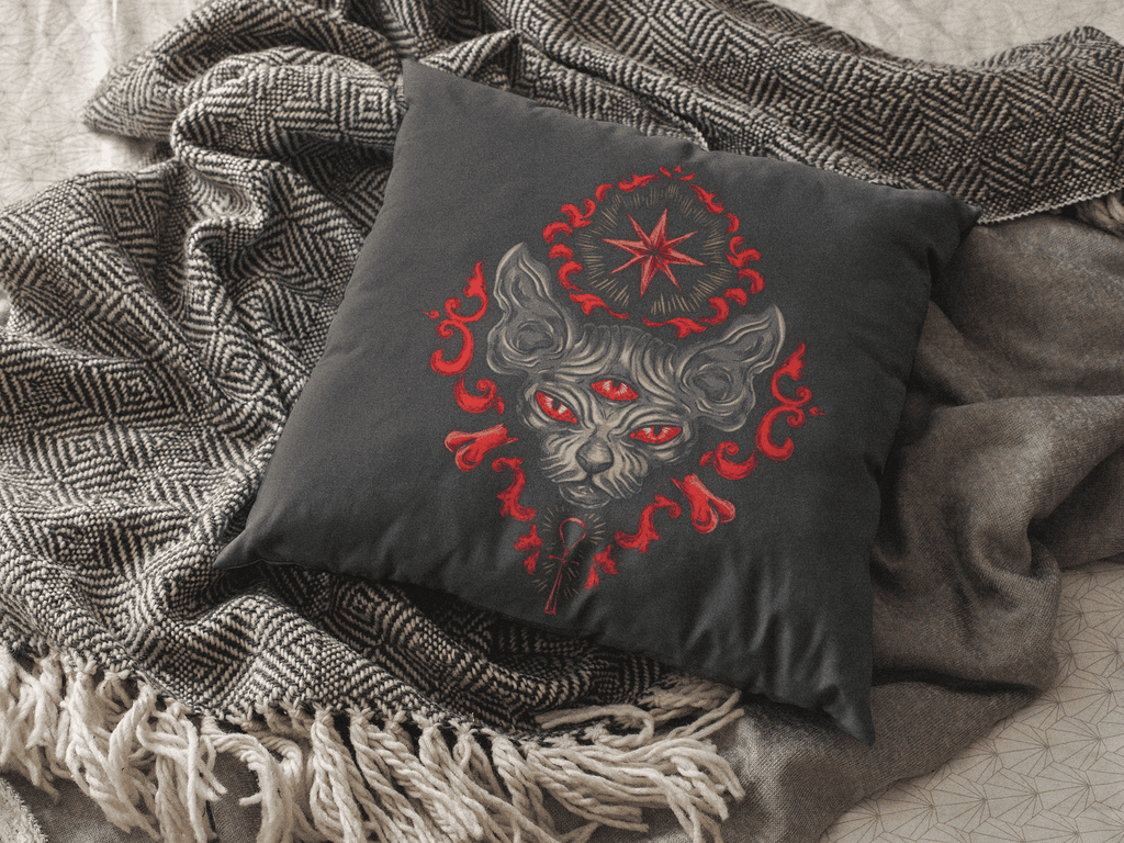 Egyptian Cat Square Pillow