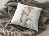 Hungry Crows Square Pillow