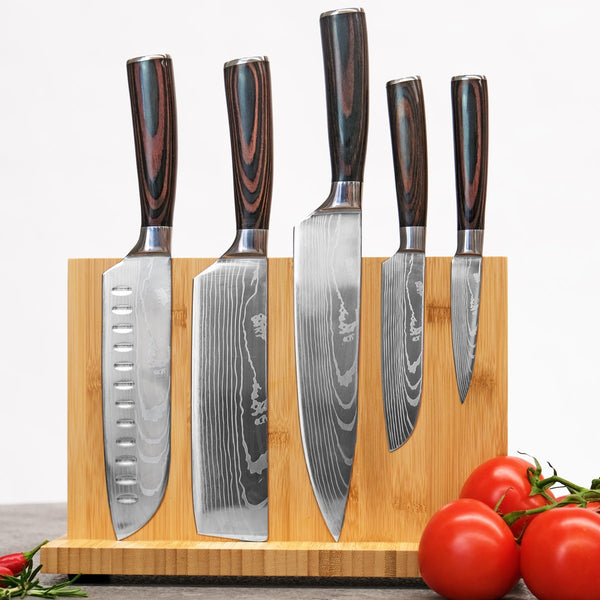 Stainless Steel Kitchen Knives by Vertoku™ - 40% Off