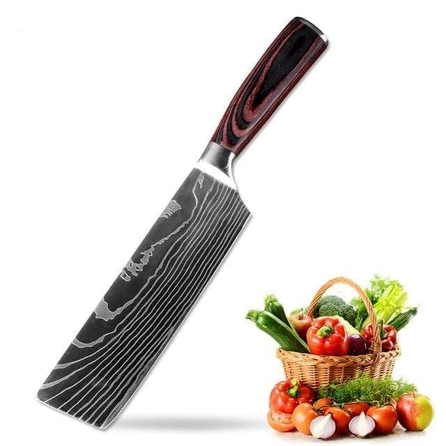 8 pc Set - Stainless Steel Kitchen Knives by Vertoku™ (40% Off)