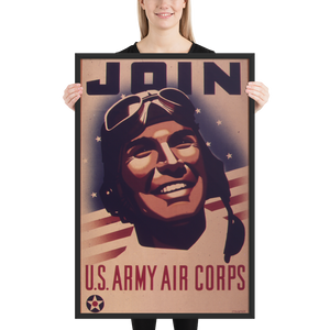 Join the Army Air Corps! Framed WWII Propaganda Poster-Warrior Lodge Media