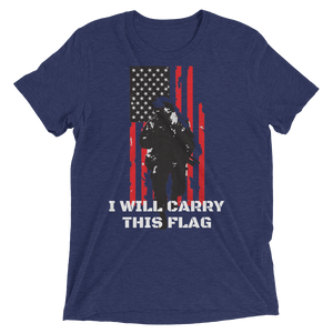 I Will Carry This Flag Short Sleeve t-shirt-Warrior Lodge Media
