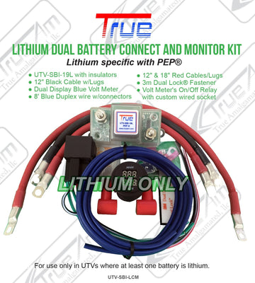 TrueAm UTV Lithium Dual Battery Connection and Monitor Kit