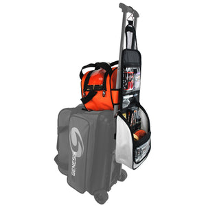 Genesis® Sport™ Accessory Bag on a Roller Bag with an Add-On Ball Bag