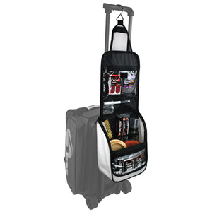 Genesis® Sport™ Accessory Bag hanging from a Roller Bag Handle