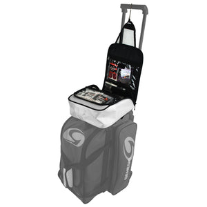 Genesis® Sport™ Accessory Bag seated on a Roller Bag