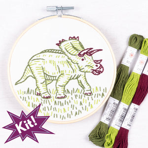 "Dino-Mite! 5"" Embroidery Kit"