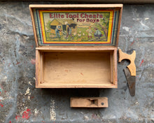 Load image into Gallery viewer, Children's Tool Box: Ellite Tool Chest c. 1910s