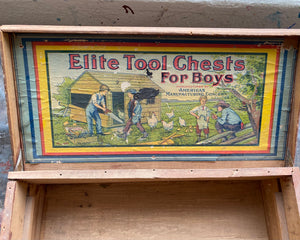 Children's Tool Box: Ellite Tool Chest c. 1910s