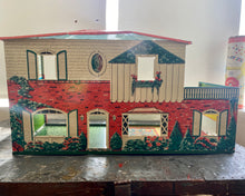 Load image into Gallery viewer, Vintage MARX TIN Metal Doll House 1960s
